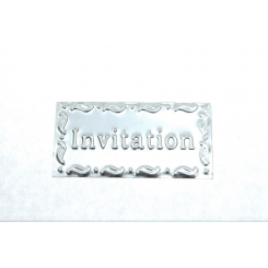 """INVITATION"" skilt, Zink"
