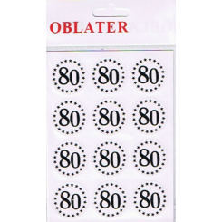 Oblater 80, guld